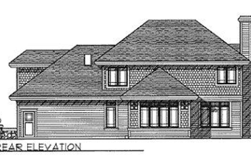 Traditional Exterior - Rear Elevation Plan #70-456 - Houseplans.com