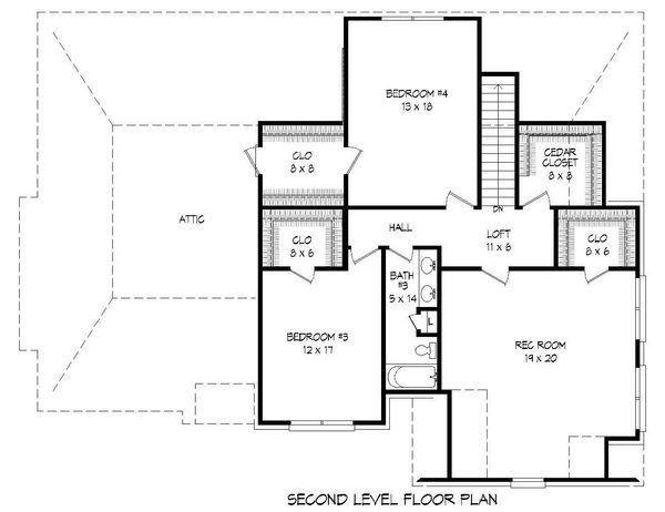 Country Floor Plan - Upper Floor Plan Plan #932-209