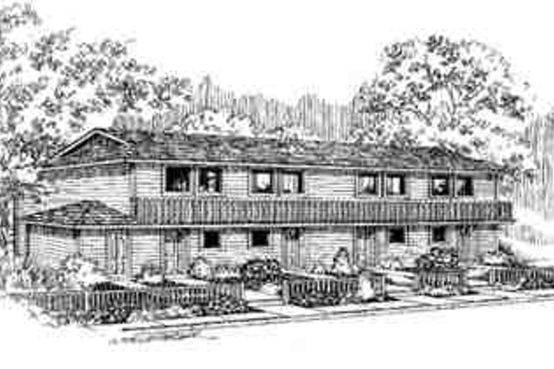 Traditional Exterior - Front Elevation Plan #60-602 - Houseplans.com