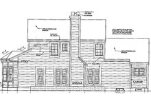 Colonial Exterior - Rear Elevation Plan #3-269