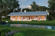 Ranch Style House Plan - 2 Beds 2 Baths 1480 Sq/Ft Plan #888-4 Exterior - Other Elevation