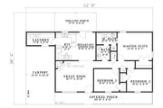Traditional Style House Plan - 3 Beds 1.5 Baths 1104 Sq/Ft Plan #17-2150 Floor Plan - Main Floor Plan
