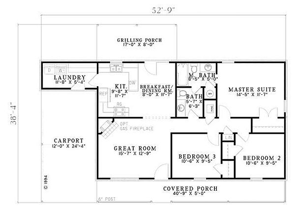 Traditional Floor Plan - Main Floor Plan Plan #17-2150