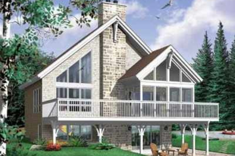 Modern Style House Plan - 4 Beds 2 Baths 2105 Sq/Ft Plan #23-416 Exterior - Front Elevation