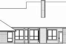 House Design - Colonial Exterior - Rear Elevation Plan #84-142