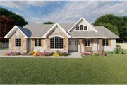Farmhouse Style House Plan - 3 Beds 2.5 Baths 2093 Sq/Ft Plan #126-187 Exterior - Front Elevation