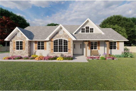 Farmhouse Exterior - Front Elevation Plan #126-187