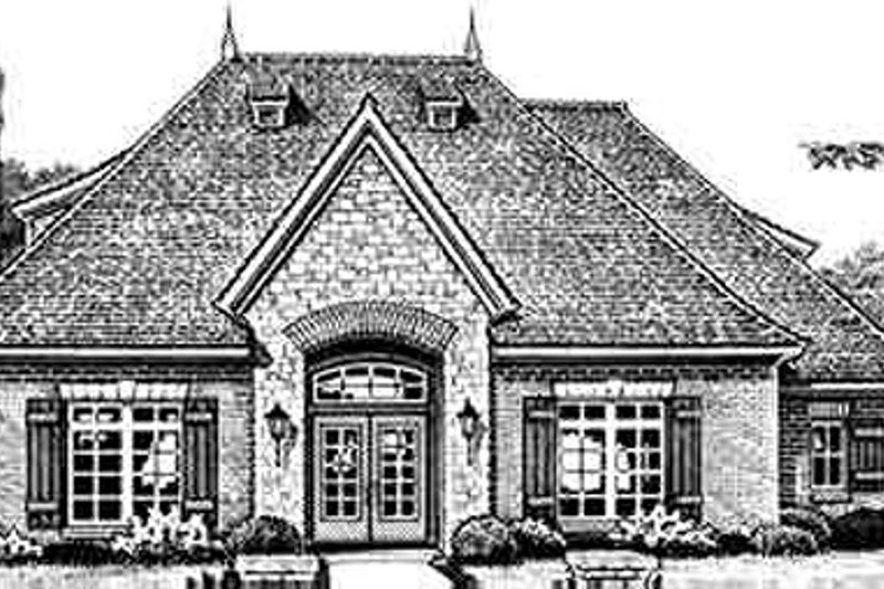 European Style House Plan - 2 Beds 2.5 Baths 2596 Sq/Ft Plan #310-264 Exterior - Front Elevation