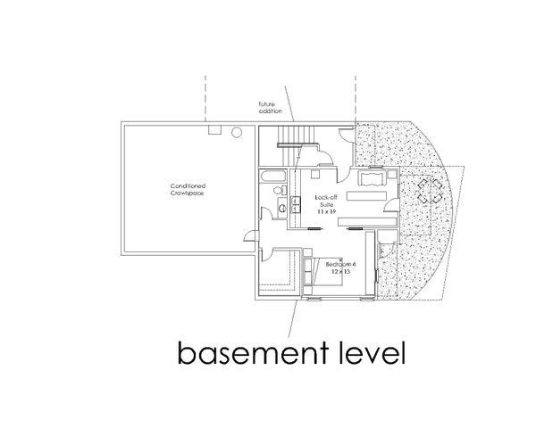 Modern Floor Plan - Lower Floor Plan Plan #902-4