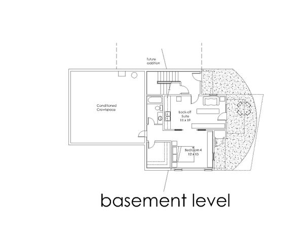 Modern Floor Plan - Lower Floor Plan #902-4