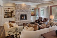 Architectural House Design - Country Interior - Family Room Plan #928-1