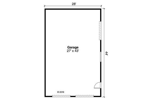 Traditional Floor Plan - Main Floor Plan #124-1175