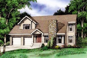 Home Plan - Country Exterior - Front Elevation Plan #405-159