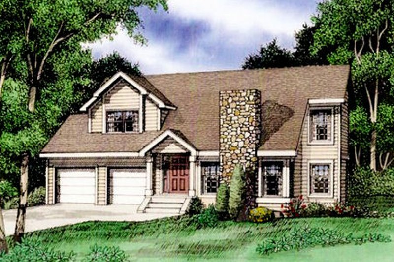 Country Exterior - Front Elevation Plan #405-159