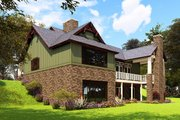 Craftsman Style House Plan - 4 Beds 4.5 Baths 3574 Sq/Ft Plan #17-2504 Exterior - Rear Elevation