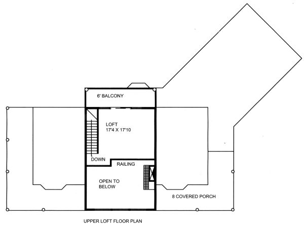 Craftsman Floor Plan - Upper Floor Plan Plan #117-880