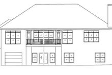 Dream House Plan - Mediterranean Exterior - Rear Elevation Plan #437-26