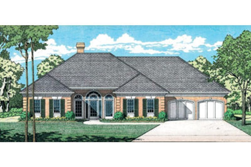 European Exterior - Front Elevation Plan #45-143 - Houseplans.com