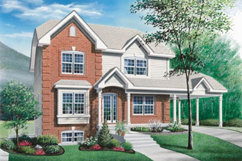 Country Exterior - Front Elevation Plan #23-2053 - Houseplans.com