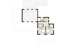 Contemporary Floor Plan - Upper Floor Plan Plan #924-13