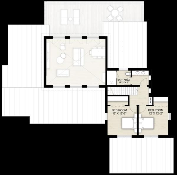 Dream House Plan - Contemporary Floor Plan - Upper Floor Plan #924-13