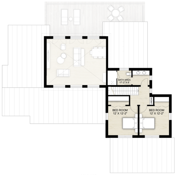 Architectural House Design - Contemporary Floor Plan - Upper Floor Plan #924-13