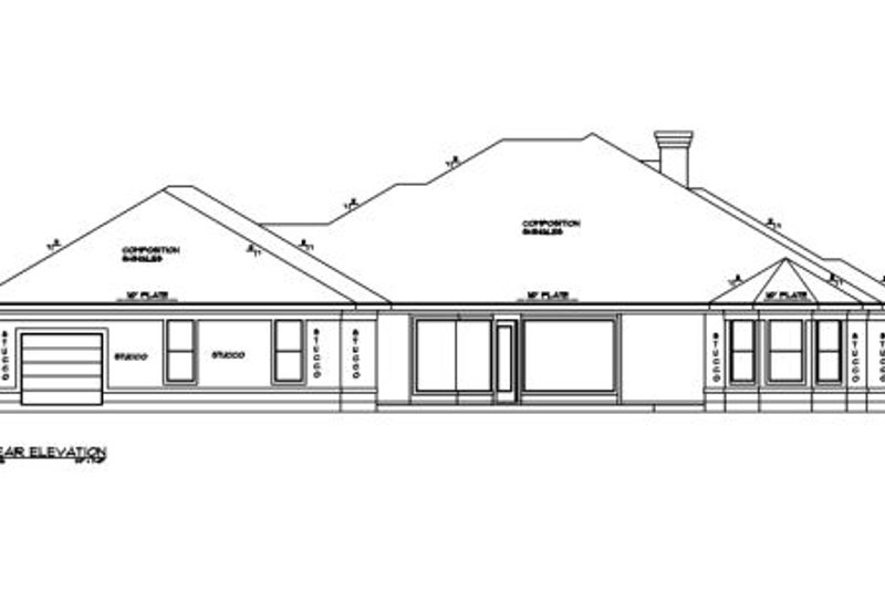 European Exterior - Rear Elevation Plan #61-111 - Houseplans.com