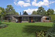Contemporary Style House Plan - 4 Beds 2.5 Baths 2699 Sq/Ft Plan #48-1014 Exterior - Rear Elevation