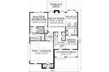 Southern Floor Plan - Main Floor Plan Plan #137-293