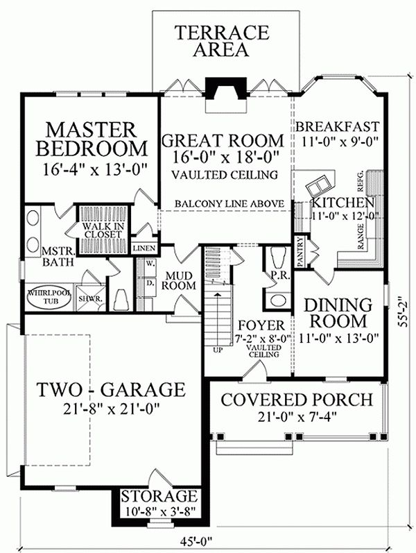 Southern Floor Plan - Main Floor Plan #137-293