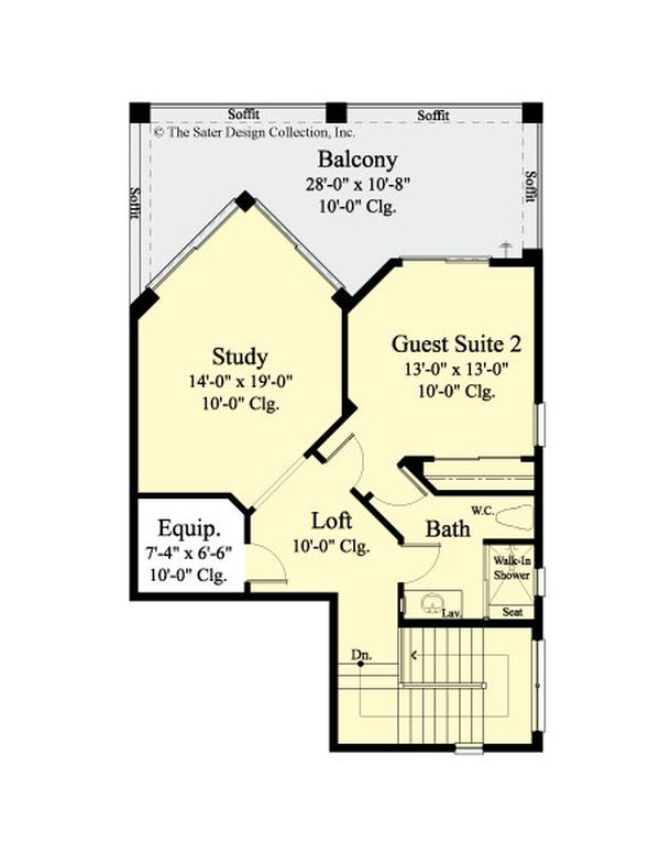 Dream House Plan - Country Floor Plan - Upper Floor Plan #930-474