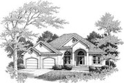 Traditional Style House Plan - 3 Beds 2.5 Baths 2436 Sq/Ft Plan #14-230 Exterior - Front Elevation