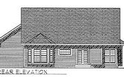 Traditional Style House Plan - 2 Beds 2 Baths 1490 Sq/Ft Plan #70-134 Exterior - Rear Elevation