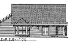 Dream House Plan - Traditional Exterior - Rear Elevation Plan #70-134