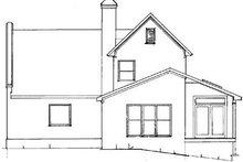 Home Plan Design - European Exterior - Rear Elevation Plan #41-130