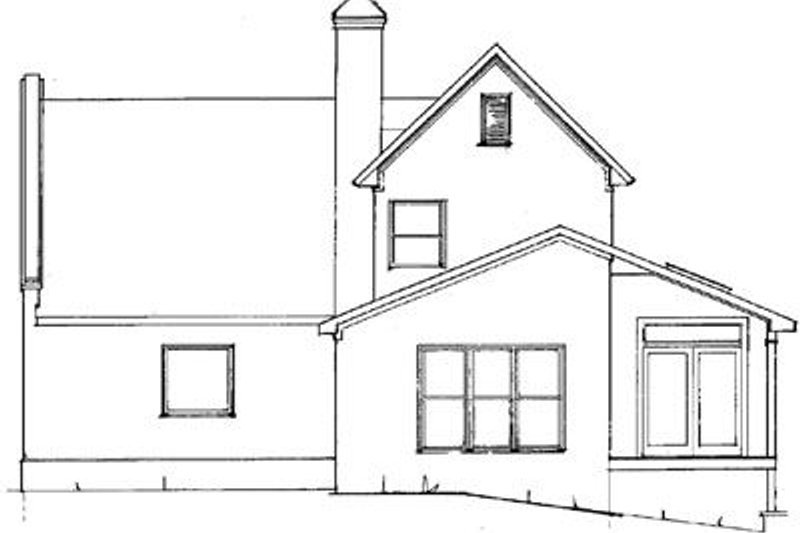 European Exterior - Rear Elevation Plan #41-130 - Houseplans.com