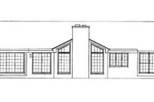 House Plan Design - Ranch Exterior - Rear Elevation Plan #72-215