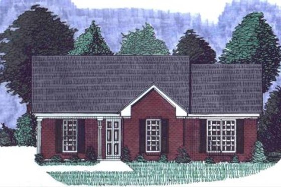 Ranch Exterior - Front Elevation Plan #69-104