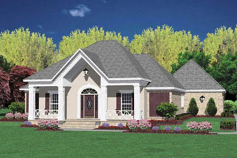 Traditional Exterior - Front Elevation Plan #36-177 - Houseplans.com
