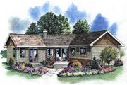 Traditional Style House Plan - 1 Beds 1 Baths 768 Sq/Ft Plan #18-1050