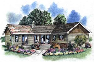 Traditional Exterior - Front Elevation Plan #18-1050