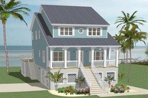 House Blueprint - Beach Exterior - Front Elevation Plan #898-44