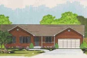 Ranch Exterior - Front Elevation Plan #308-140