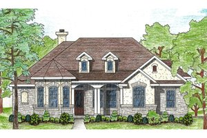 Architectural House Design - Traditional Exterior - Front Elevation Plan #80-114