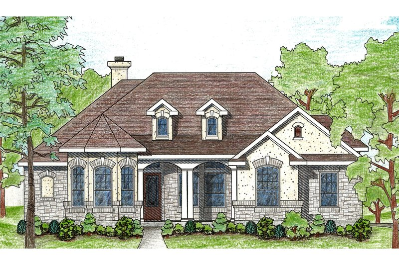 Dream House Plan - Traditional Exterior - Front Elevation Plan #80-114