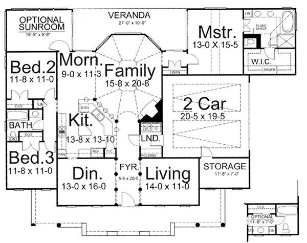 European Floor Plan - Main Floor Plan Plan #119-243