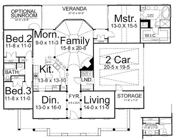 European Floor Plan - Main Floor Plan Plan #119-243