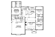 Traditional Style House Plan - 3 Beds 2 Baths 1447 Sq/Ft Plan #20-361 Floor Plan - Main Floor Plan