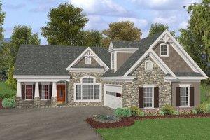 Craftsman Exterior - Front Elevation Plan #56-581