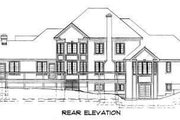 Traditional Style House Plan - 4 Beds 3.5 Baths 4048 Sq/Ft Plan #75-153 Exterior - Rear Elevation